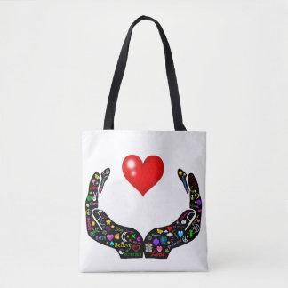 Hände der Liebe Tasche