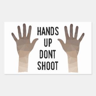 Hände oben schießen nicht Aufkleber