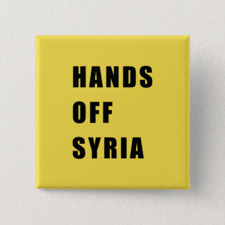 Hände vor Syrien Quadratischer Button 5,1 Cm