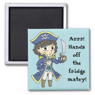 Hände weg vom Kühlschrank! - Quadratischer Magnet