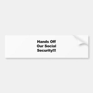 Hände weg von der Sozialversicherung Autoaufkleber
