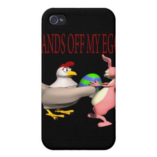 Hände weg von meinem Ei iPhone 4/4S Cover