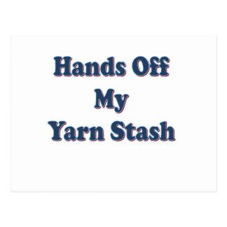 Hände weg von meinem Garn-Versteck Postkarte
