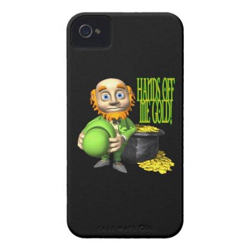 Hände weg von mir Gold iPhone 4 Cover