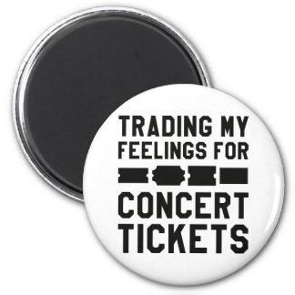 Handel meiner Gefühle für Konzert-Karten Runder Magnet 5,7 Cm