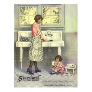 Handeln des Geschirrs Postkarte