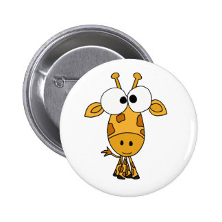 HANDELS, lustiger Giraffen-Cartoon Anstecknadelbutton