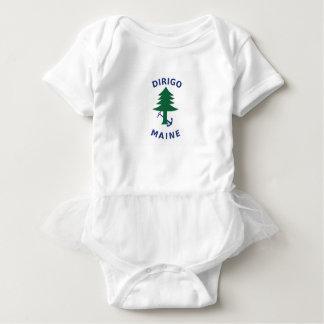 Handels- und Marineflagge von Maine Baby Strampler