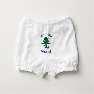 Handels- und Marineflagge von Maine Baby-Windelhöschen
