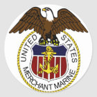 Handelsmarine-Siegel-Seeleute Vereinigter Staaten Runder Aufkleber