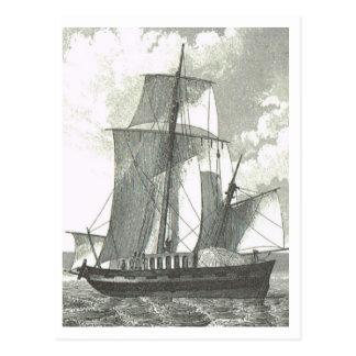 Handelsschiff 1800s postkarte