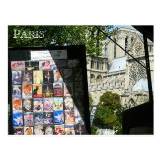Handelsstall nahe Notre Dame Postkarte