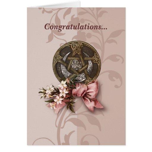 Handfasting Glückwünsche Grußkarte