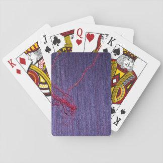 Handgemachte blaue thailändische Seide mit rotem Spielkarten