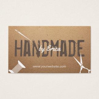 Handgemachte nähende Handwerks-Vintage Pappe Visitenkarte