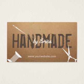 Handgemachte nähende Handwerks-Vintage Pappe Visitenkarten