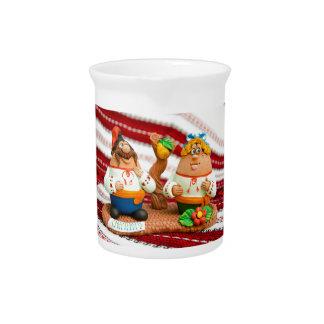 Handgemachte Spielwaren des ukrainischen Getränke Pitcher