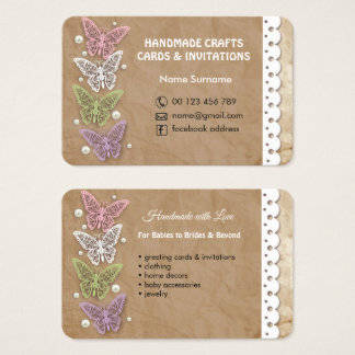 Handgemachtes Handwerk u. Grußkarten Visitenkarte