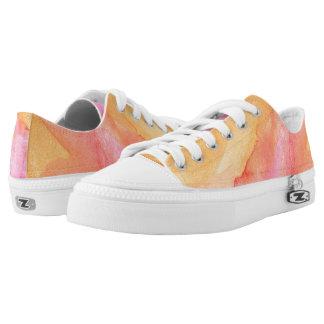 Handgemalte Aquarellmuster und -beschaffenheiten Niedrig-geschnittene Sneaker