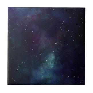 Handgemalte Galaxie Keramikfliese