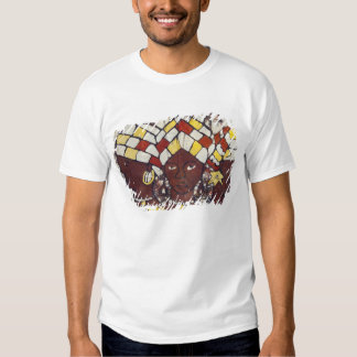 Handgemalte Gewebe, die jeden Tag darstellen Hemd