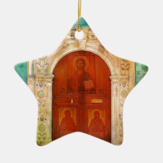 Handgemalte Jesus Christus-Ikonen-Tür-griechisches Keramik Ornament