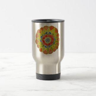 Handgemalte Mandala rostfreier Stahl-mit Reisebecher