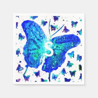 Handgemalte Schmetterlings-Cocktail-Servietten Papierserviette