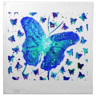 Handgemalte Schmetterlings-Stoff-Servietten Stoffserviette