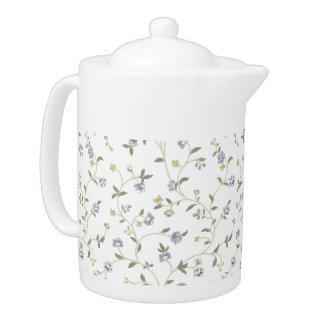 Handgemalter Blumentee-Topf