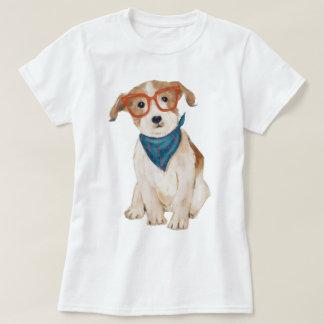 Handgemalter Hipster-Jack-Russell-Terrier-Hund T-Shirt