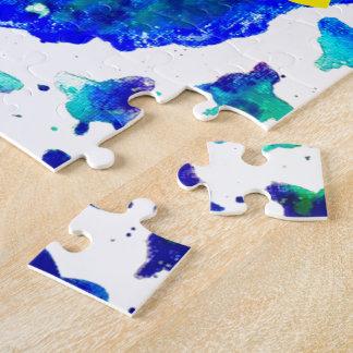 Handgemalter Kasten des Puzzle