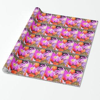 Handgemaltes Blumen Geschenkpapier
