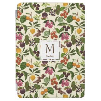 Handgemaltes rustikales tropische Frucht-Monogramm iPad Air Hülle