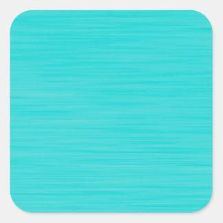 Handgemaltes Tiffany-Aqua-Blau Quadratischer Aufkleber