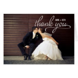 HANDGESCHRIEBENE Hochzeit danken Ihnen Foto-Karte