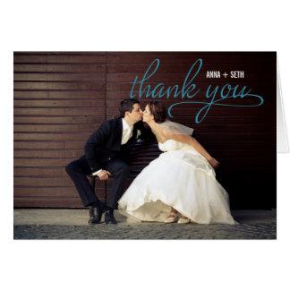 HANDGESCHRIEBENE Hochzeit danken Ihnen Foto-Karte Karte