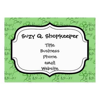 Handgeschriebenen glücklichen St Patrick Mini-Visitenkarten