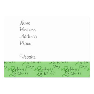 Handgeschriebenen glücklichen St Patrick Visitenkartenvorlagen