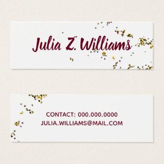 handgeschriebener Name + splattered Glitter Mini Visitenkarte