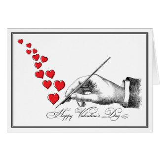 Handgeschriebener Valentinsgruß Karte