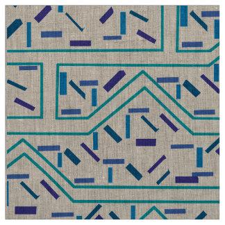 Handgezeichnetes und digital redigiertes Muster Stoff