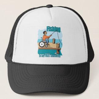 Handikap-Rollstuhl-Fischen Truckerkappe