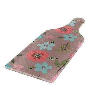 Handillustrierter Blumendruck Schneidebrett