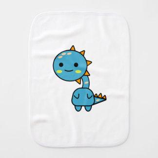 Handlicher blauer Dinosaurier Kawaii Cartoon Spucktuch