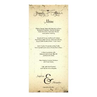 Handlungs-kundengerechte Hochzeits-Menü-Karte Werbekarte