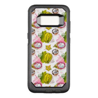 Handlungsfreiheit-strukturiertes Frucht-Muster OtterBox Commuter Samsung Galaxy S8 Hülle