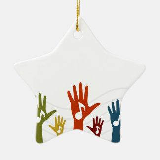 Handmusik Keramik Ornament