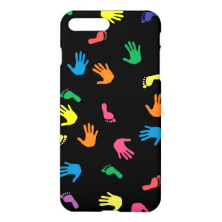 Handprint Abdruck mehrfarbig iPhone 8 Plus/7 Plus Hülle