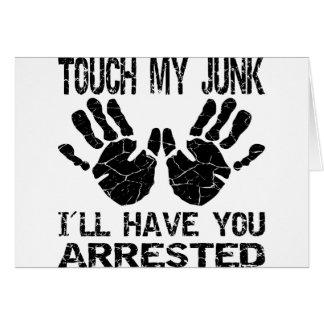 Handprint Touch mein Kram habe ich Sie Karte